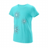 Dívčí tenisové tričko Wilson Island Paradise WRA777301 tyrkysové
