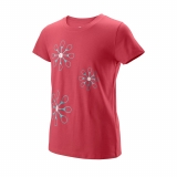 Dívčí tenisové tričko Wilson Island Paradise WRA777302 růžové