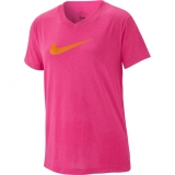 Dívčí tréninkové tričko Nike Swoosh Training T-Shirt AR5039-686 růžové