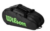 Tenisový bag Wilson TOUR 3 COMP černo-zelený