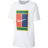 Dětské tréninkové tričko Nike Classic SS Crew CD9583-100 bílé