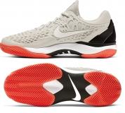 Herren Tennisschuhe Nike Air Zoom Cage 3 Cly 918192-009 grau