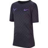 Kinder Tennis T-Shirt Nike Court Dry Rafa Tee BV7032-015 schwarz