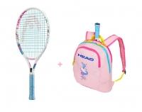 Kinder Tennisschläger Head Maria 21 + Kinderrucksack Head Maria 2019