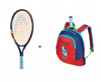 Kinder Tennisschläger Head Novak 19 + Kinderrucksack Head Novak 2019