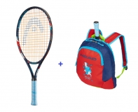 Kinder Tennisschläger Head Novak 23 + Kinderrucksack Head Novak 2019