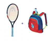 Kinder Tennisschläger Head Novak 21 + Kinderrucksack Head Novak 2019