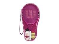 Dětská raketa - tenisový set Wilson Burn Pink Starter Set 25
