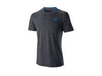 Tenisové tričko Wilson Competition Flecked Crew T-Shirt WRA773404 šedé