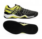 Tennisschuhe Asics Gel Resolution 7 Clay E702Y-003 schwarz-gelb