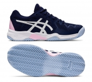 Kinder Tennisschuhe Asics Gel Resolution 8 Clay GS 1044A019-401 blau-pink