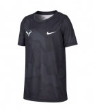 Kinder Tennis T-Shirt Nike Court DriFit Rafa CD2165-103 schwarz