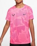 Dětské tenisové tričko Nike Court DriFit Rafa CD2165-100 růžové