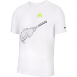 Tennis T-Shirt Nike Court DriFit T-Shirt CQ2416-100 weiss