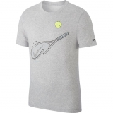Tennis T-Shirt Nike Court DriFit T-Shirt CQ2416-063 grau