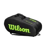Tenisový bag Wilson Team 3 Comp 2020 černo-zelený