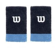 Potítko WILSON Extra Wide W Wristband tmavě modré