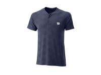Tenisové tričko Wilson Power Seamless Henley T-Shirt WRA778803