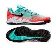 Herren Tennisschuhe Nike Court Air Zoom Vapor X Knit AR0496-300 grün-orange