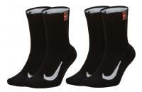 Tenisové ponožky Nike Multiplier Crew Tennis Socks 2 ks SK0118-010 černé