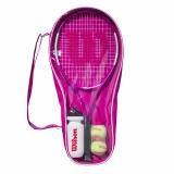 Dětská raketa - tenisový set Wilson Ultra Pink Starter Set 25 2020